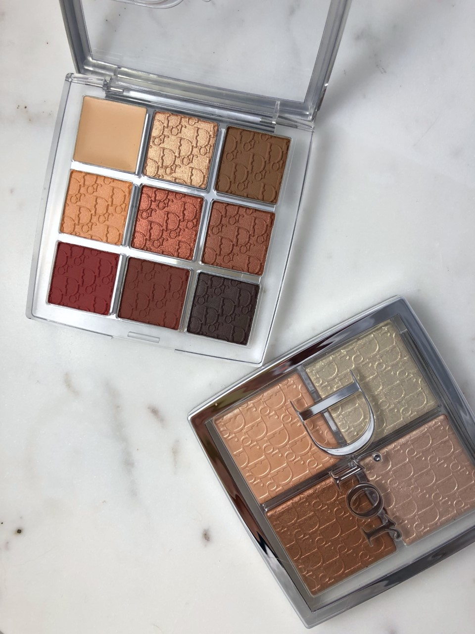 Dior Backstage Eyeshadow and Backstage Glow Face Palette: A quick review