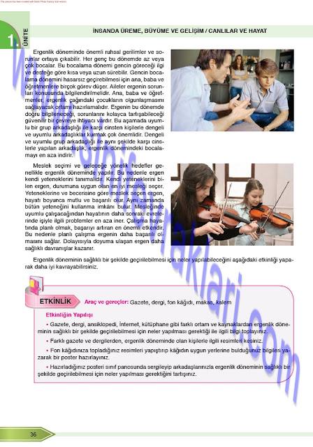 8. Sınıf Öğün Yayınları Fen Bilimleri Ders Kitabı Cevapları Sayfa 36