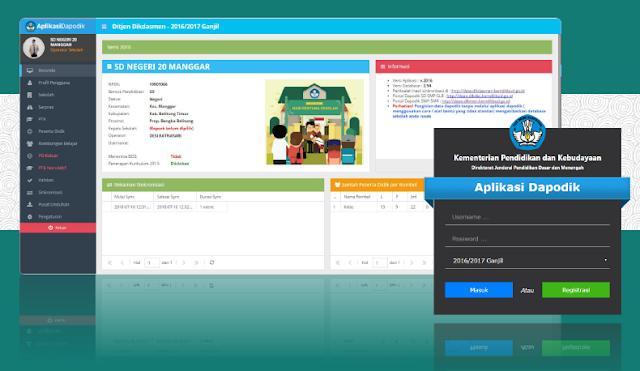 Tampilan Baru Aplikasi Dapodik 2016 dengan Fitur Terbaru dilengkapi panduan