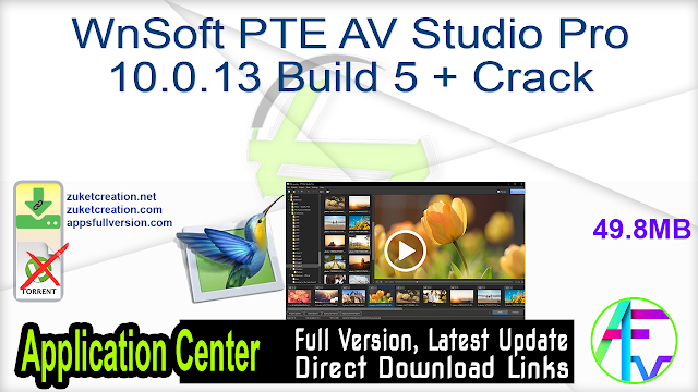 WnSoft PTE AV Studio Pro 10.0.13 Build 5 + Crack