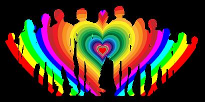 Familie Liebe Regenbogen Junge Kinder Chromatisch