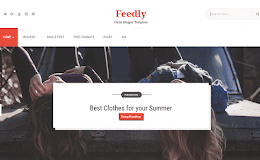 Feedly Flat blogger template