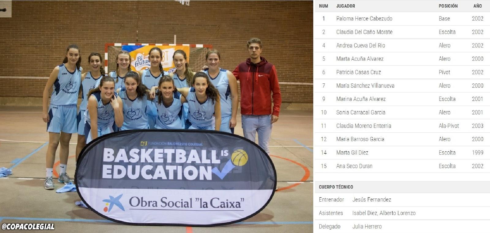 Agustinas Valladolid - 2017 - Club Deportivo - Copa Colegial - Semifinal