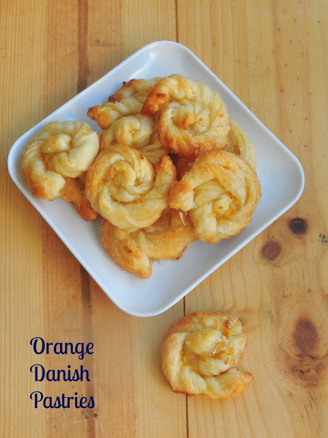 Eggless Orange Danish Twists