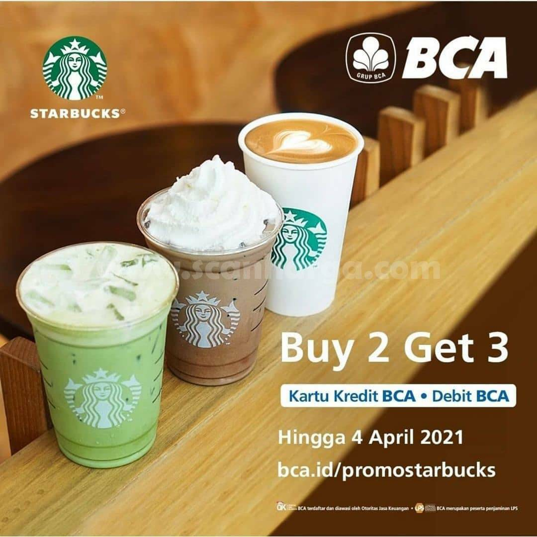 STARBUCKS Promo GRATIS 1 Minuman dengan Kartu Kredit & Debit BCA