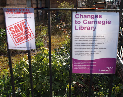 Carnegie Library, Herne Hill - closed down by Lambeth council, occupied by its users