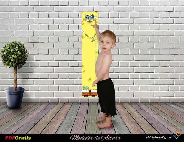 Medidor de altura para niños inspirado en Bob Esponja