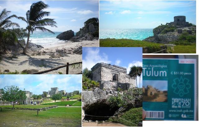 visitando las ruinas mayas de tulum entrada