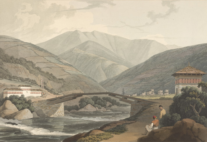 Green Tea Views Of Bhutan 200 Years Ago