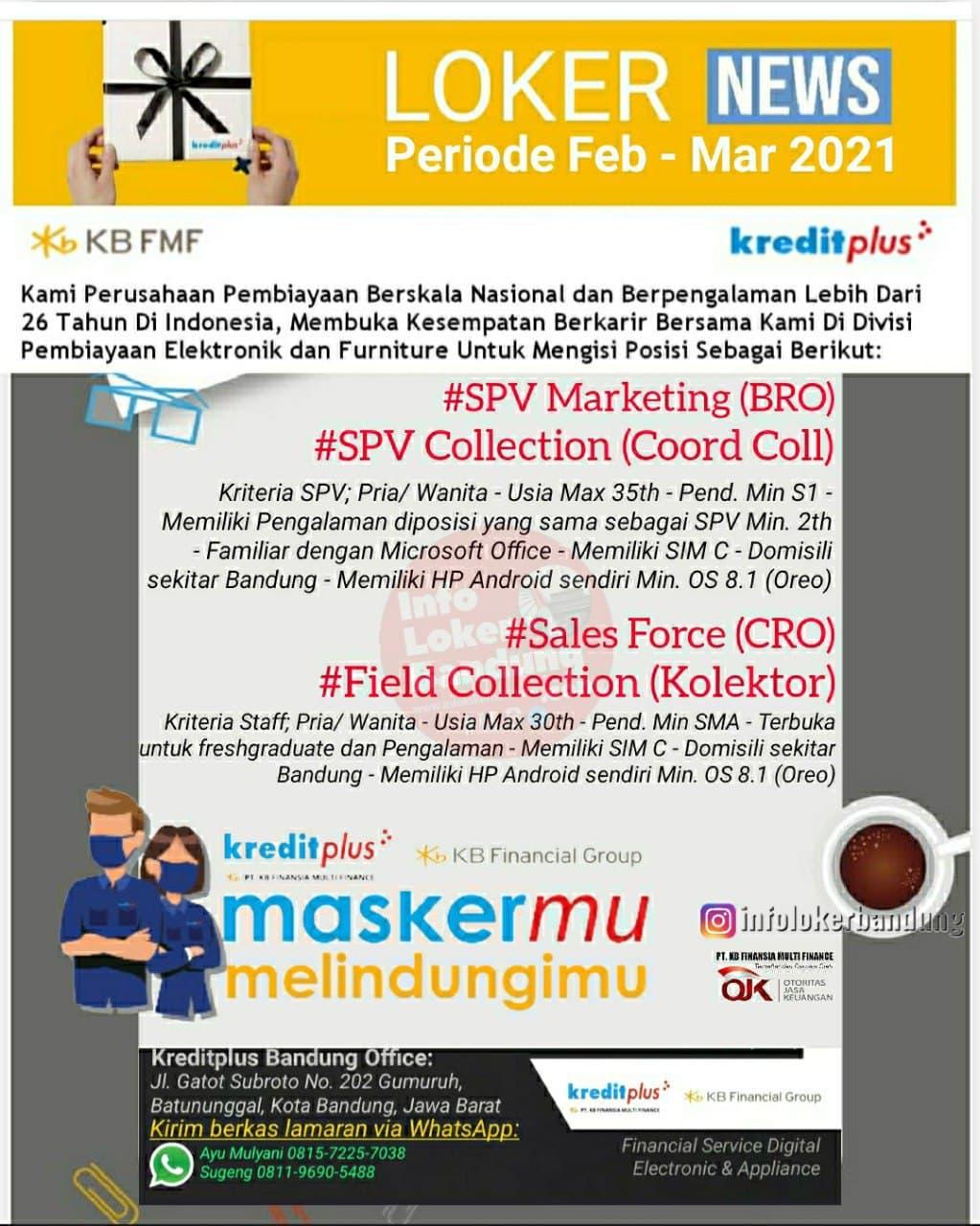 Lowongan Kerja Kreditplus Bandung Februari 2021