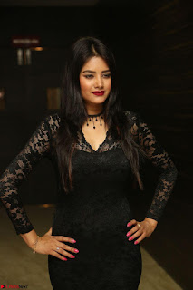 Actress Monica in spicy transparent Black Top at O Pilla Nee Valla Movie Audio Launch Feb 2017 169.JPG