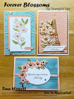 Forever Blossoms class cards www.tinascreativestudio.com