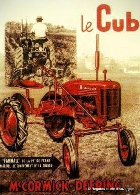 Tracteur agricole ancien Mas Cormick