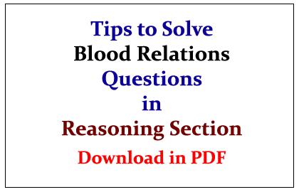 Blood Relations Questions Pdf