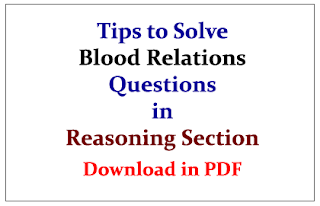 Tips to Solve Blood Relation Questions in Reasoning Section- Download in PDF