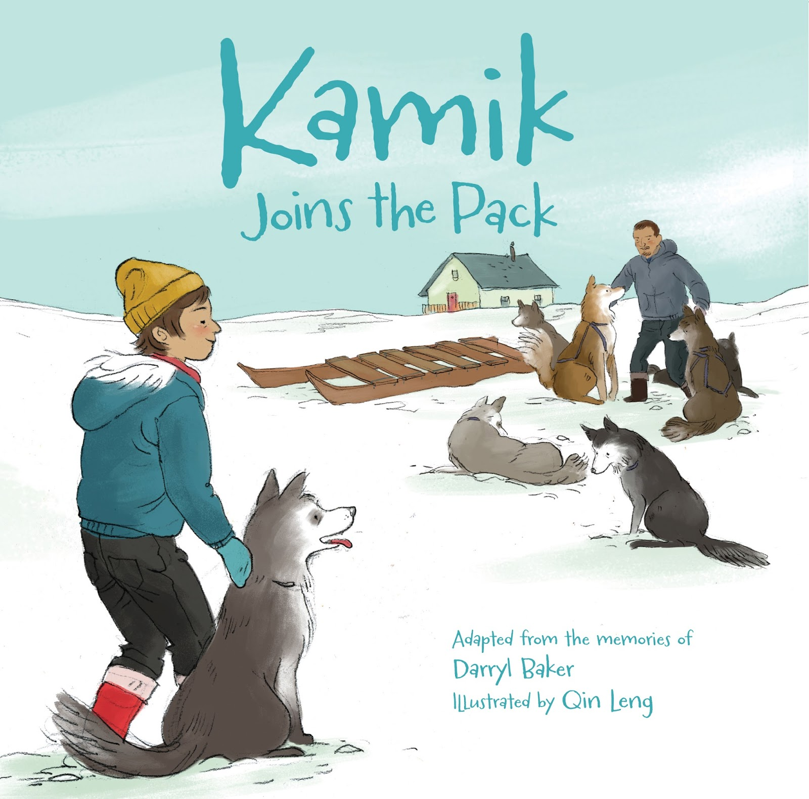 Kamik Joins the Pack was in my mail today. Adapted from the memories of  Darryl Baker, who is Inuit, the story is the third in Inhabit Media's  series ...