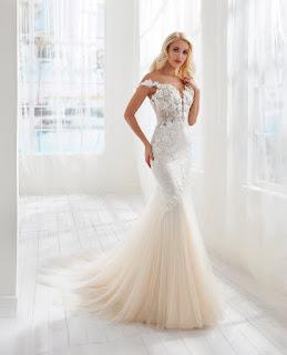 Randy Fenoli Mermaid Embroidered Tulle Bridal Dress back design