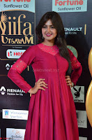 Monal Gajjar in Maroon Gown Stunning Cute Beauty at IIFA Utsavam Awards 2017 016.JPG