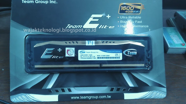 Memory RAM Team Elite Plus 4GB DDR3 1600 Heatspreader