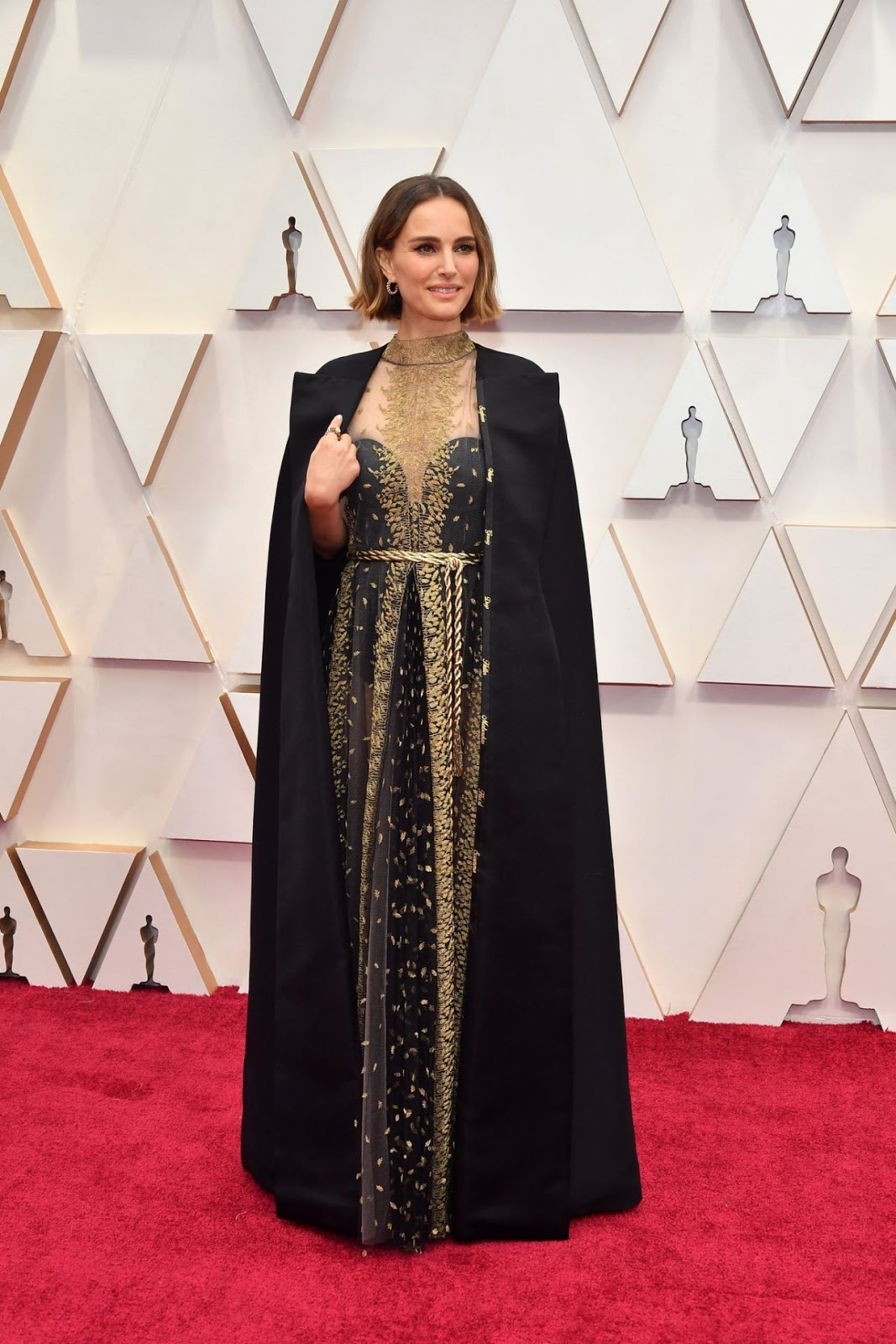 Natalie Portman's Dior cape is embroidered with names of snubbed female directors at the 2020 Oscars