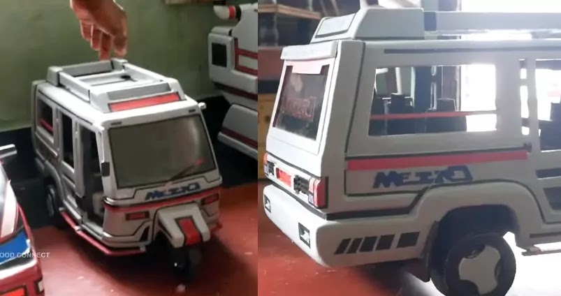 Seven seater kochi metro auto, Prototype, Paper Craft, Artwork