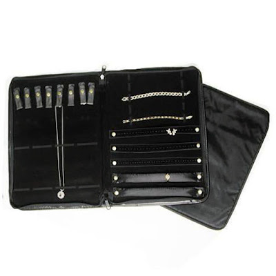 Faux Leather Jewelry Combination Storage Folder from Nile Corp