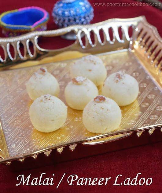Malai Ladoo / Paneer Ladoo Using Condensed Milk