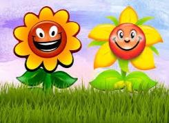 gambar bunga matahari kartun