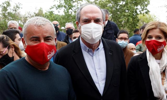 Jorge Javier Vázquez apoya a Gabilondo en un acto de campaña en Vallecas