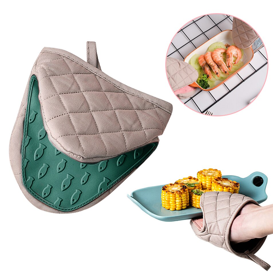 Silicone Cotton Oven Gloves Buy on Amazon and Aliexpress