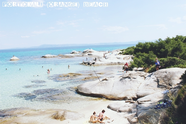 Portokali (Orange) beach in Sithonia