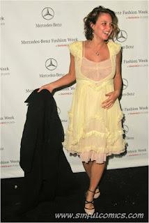 josie maran, model, actress, she got captured during an event, yellow dress, pregnant