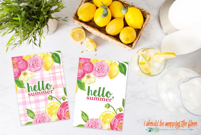 Hello, Summer Printables