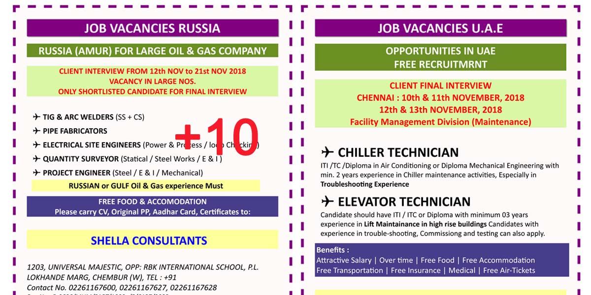 GULF JOBS REQUIREMENT MUMBAI