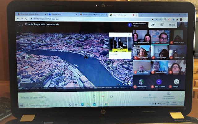 computador com tour virtual sobre as grandes mulheres da Peninsula ibérica