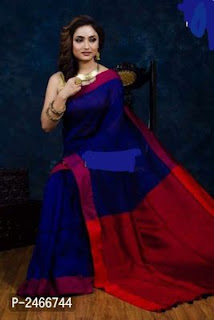 Handloom Khadi Cotton Tassel Saree