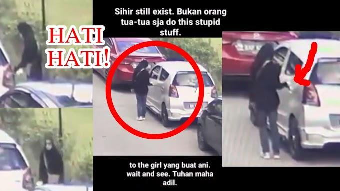 SIHIR KISAH BENAR! Rakaman CCTV wanita letak 'minyak' + ZIKIR/ DOA PENDINDING DIRI