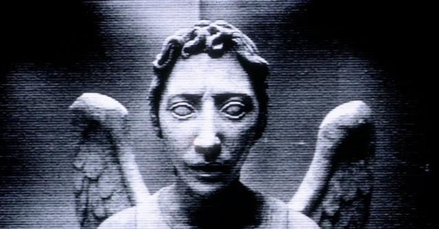 Creepypastas assustadoras, imagem de anjo macabro.
