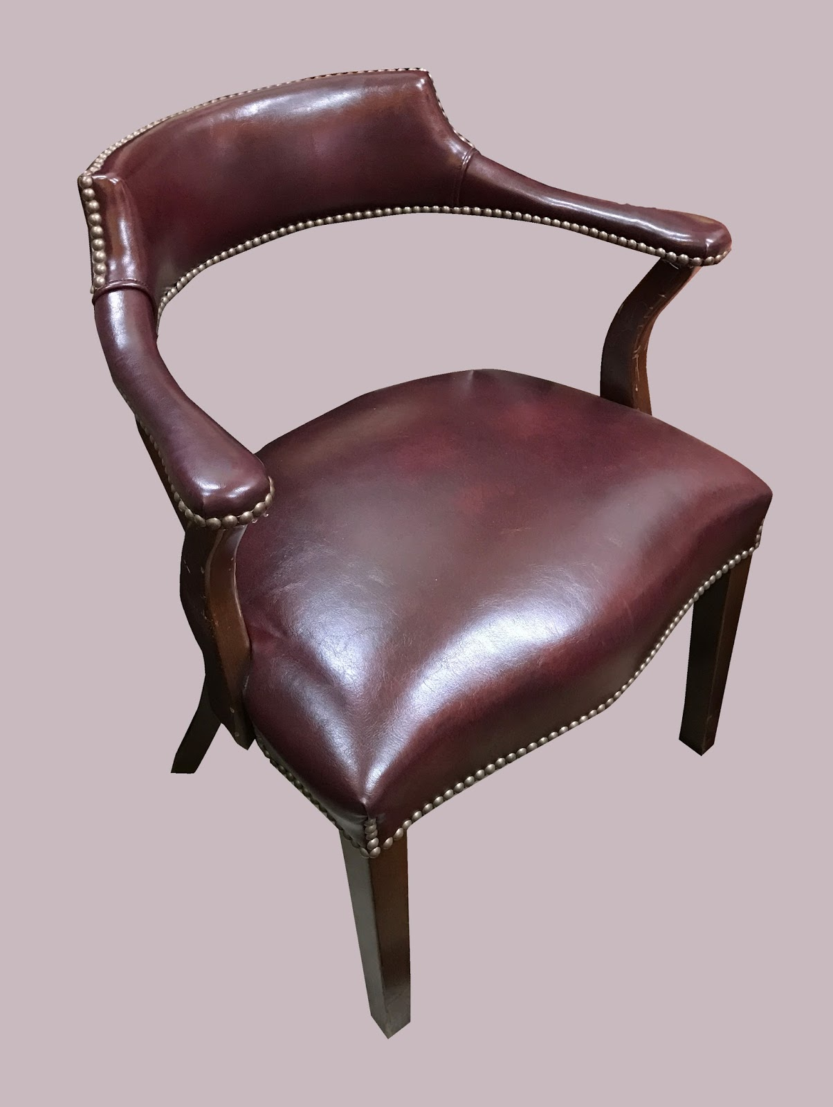 Uhuru Furniture Collectibles Leather Armchair W Nail Heads 65 Each Sold