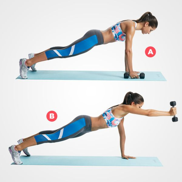 2. Plank With Front Raise
