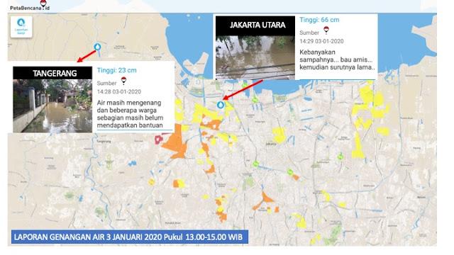 Update Data Genangan Banjir Jabodetabek 3 Januari Pukul 14.50