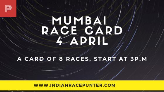 Mumbai Race Card 4 April
