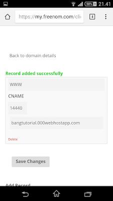 Set DNS freenom
