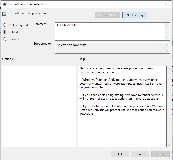 Mematikan Windows Defender Melalui Edit Group Policy