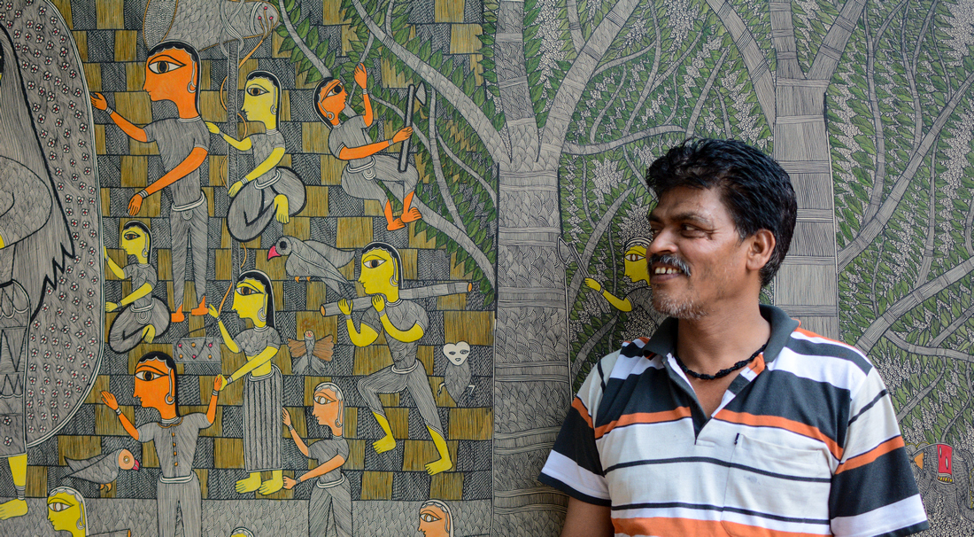 This Madhubani painter is creating great wall art at National Crafts ...