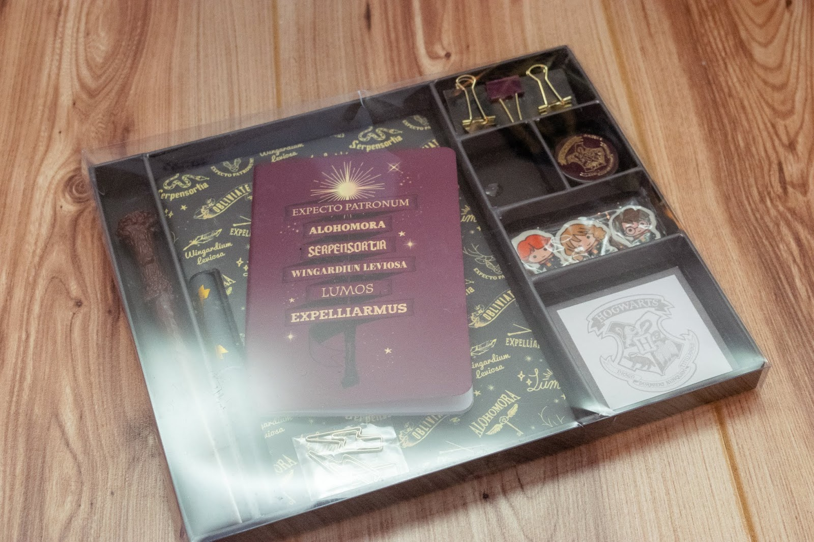 A Harry Potter stationery gift set.