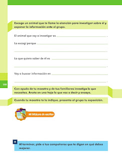 Apoyo Primaria Español 1er grado Bimestre 4 lección 17 Hoy les voy a hablar de