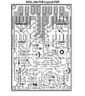 Power Amplifier SOCL506 Driver PCB Layout