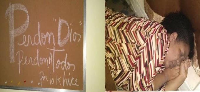 Pastora Que se suicidó en Palmarito de  Barahona dejó un mensaje pidiendo Perdón