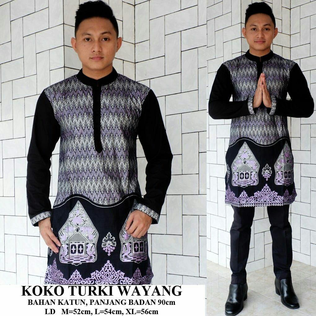 Grosir Batik Pekalongan Koko Turki Wayang Grey M